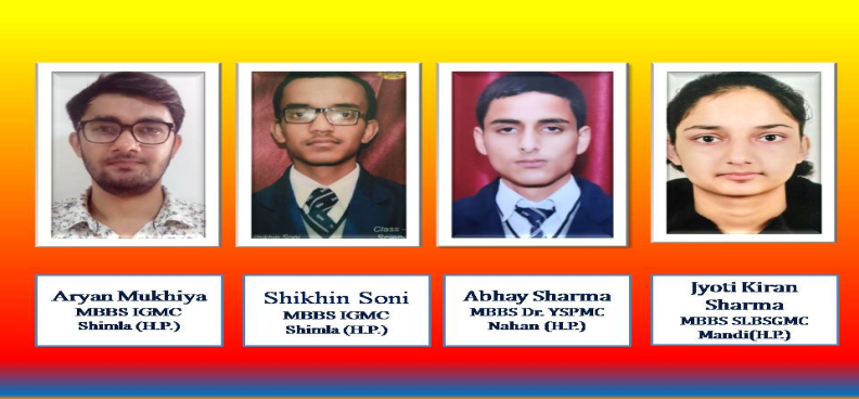 Proud Achiervers ... Selected for MBBS..